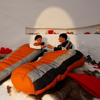 Romantic, icy, hot! A night in a two-man igloo