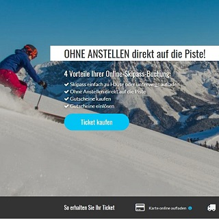 Wow! So convenient – the new SkiWelt Ticket Online Shop.