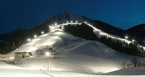 Austrias Largest Night Skiing Area