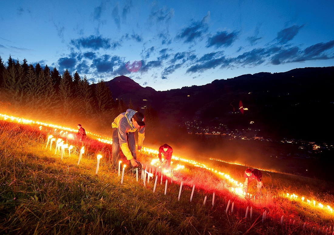 Brixental Mountain fires