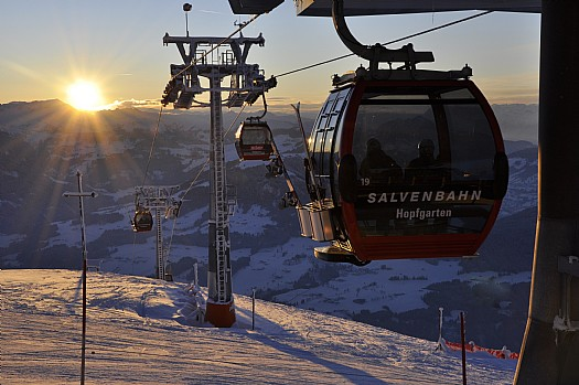 Sunset at the SkiWelt
