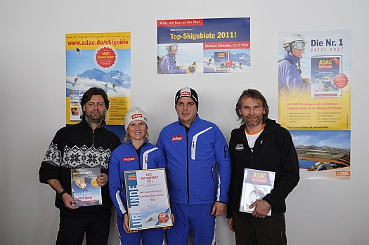 SkiWelt Marketing Anita Baumgartner u. Christian Kapfinger, ADAC Skiguide Thomas Biersack