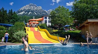 Outdoor pool slide