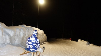 Toboggan run Astberg by night