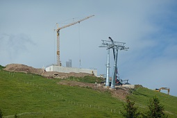 Construction Jochbahn - fastest 8seater chairlift in the world